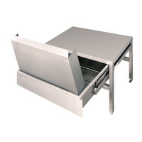 Cleveland ST55 55 inch x 21 inch Stainless Steel Equipment Stand with Two Removable Drain Drawers and Splash Shields