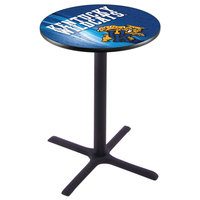 Holland Bar Stool L211B4228UKYCAT-D2 28 inch Round University of Kentucky Bar Height Pub Table