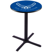 Holland Bar Stool L211B4228AirFor 28 inch Round United States Air Force Bar Height Pub Table