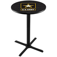 Holland Bar Stool L211B4228ARMY 28 inch Round United States Army Bar Height Pub Table