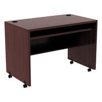 Alera ALEVA204224MY Valencia 41 3/8 inch x 23 5/8 inch Mahogany Mobile Workstation Desk