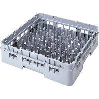 Cambro PR500151 Soft Gray Customizable Standard 9 x 9 Camrack Peg Rack with 1 Extender Standard