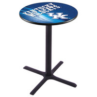 Holland Bar Stool L211B4228UKY-UK-D2 28 inch Round University of Kentucky Bar Height Pub Table