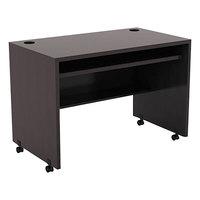 Alera ALEVA204224ES Valencia 41 3/8 inch x 23 5/8 inch Espresso Mobile Workstation Desk