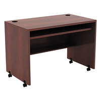 Alera ALEVA204224MC Valencia 41 3/8 inch x 23 5/8 inch Medium Cherry Mobile Workstation Desk
