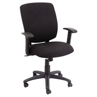 Alera ALETE4711 Everyday Task Anthracite Fabric Office Chair with Black Swivel Nylon Base