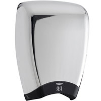 Bobrick B-7188 Quiet-Dry Series TerraDry Surface-Mounted Hand Dryer with Chrome Cover - 208/240V, 1000W