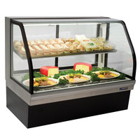 Master-Bilt CGD-59 59 inch Curved Glass Refrigerated Deli Display Case - 24.5 Cu. Ft.