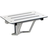 Bobrick B-5192 22 1/2 inch Ivory Phenolic Folding Shower / Dressing Area Seat