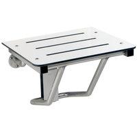 Bobrick B-5191 18 inch Ivory Phenolic Folding Shower / Dressing Area Seat