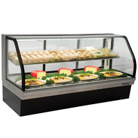 Master-Bilt CGD-77 77 inch Curved Glass Refrigerated Deli Display Case - 32 Cu. Ft.