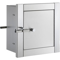 Bobrick B-50516 Stainless Steel Heavy Duty Recess Mounted Pass-Through Cabinet with Satin Finish