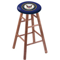 Holland Bar Stool RC30MSMedNavy United States Navy Wood Bar Stool with Medium Finish