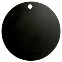 Elite Global Solutions ECO155R-B Eco Serving Boards 15 1/2 inch Black Round Melamine / Bamboo Flat Board with Finger Hole