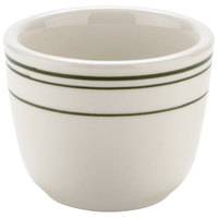Tuxton TGB-045 Green Bay / DuraTux 4.5 oz. Green Band China Chinese / Asian Sake Tea Cup - 36/Case