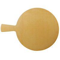 Elite Global Solutions ECO15RW-RT Eco Serving Boards 15 inch Rattan Round Melamine / Bamboo Serving Board with Handle