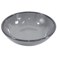 Elite Global Solutions DB51M Mojave Vintage California 10 oz. Gray Small Round Crackle Bowl - 6/Case