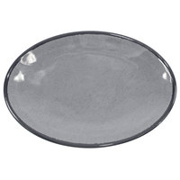 Elite Global Solutions D8512OVM Mojave Vintage California 12 1/2 inch x 8 1/2 inch Gray Oval Crackle Plate - 6/Case