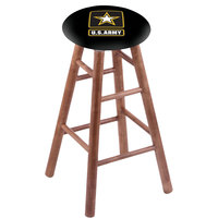 Holland Bar Stool RC30MSMedArmy United States Army Wood Bar Stool with Medium Finish