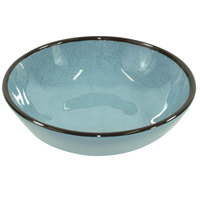 Elite Global Solutions DB51M Mojave Vintage California 10 oz. Cameo Blue Small Round Crackle Bowl - 6/Case