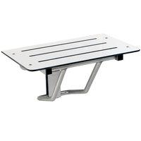 Bobrick B-5193 25 1/2 inch Ivory Phenolic Folding Shower / Dressing Area Seat