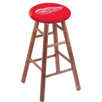 Holland Bar Stool RC30MSMedDetRed Detroit Red Wings Wood Bar Stool with Medium Finish