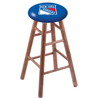 Holland Bar Stool RC30MSMedNYRang New York Rangers Wood Bar Stool with Medium Finish