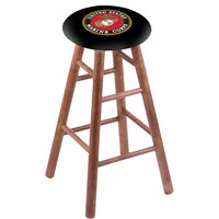 Holland Bar Stool RC30MSMedMarine United States Marine Corps Wood Bar Stool with Medium Finish