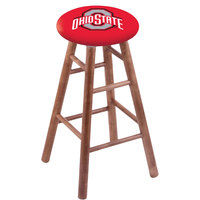 Holland Bar Stool RC30MSMedOhioSt Ohio State University Wood Bar Stool with Medium Finish