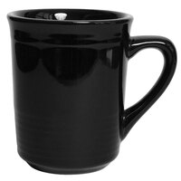 Tuxton CBM-085 Concentrix 8 oz. Black China Gala Mug - 24 / Case