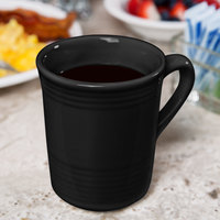Tuxton CBM-085 Concentrix 8 oz. Black China Gala Mug - 24/Case
