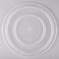 Fineline C1000C.L ReForm 10 inch Clear Flat Plastic Catering Bowl Lid - 50/Case