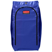 Rubbermaid 1966883 34 Gallon Blue High Capacity Vinyl Janitor Cart Bag with Recycling Symbol