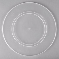 Fineline C0900C.L ReForm 9 inch Clear Flat Plastic Catering Bowl Lid - 50/Case
