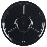 Fineline D18770PP.BK ReForm 18 inch Black 7 Compartment Plastic Catering Tray - 25/Case