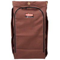 Rubbermaid 1966887 30 Gallon Brown High Capacity Vinyl-Lined Canvas Housekeeping Cart Bag