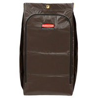 Rubbermaid 1966885 34 Gallon Brown High Capacity Vinyl Janitor Cart Bag with Recycling Symbol