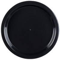 Fineline HR12PP.BK ReForm 12 inch Black High Rim Plastic Catering Tray - 25/Case