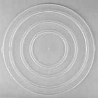 Fineline C1400C.L ReForm 14 inch Clear Flat Plastic Catering Bowl Lid - 50/Case