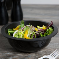 Fineline LPB0722PP.BK ReForm 22 oz. Black Low Profile Plastic Serving Bowl - 100/Case