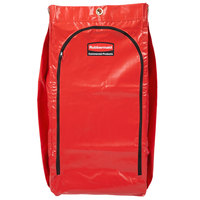 Rubbermaid 1966882 34 Gallon Red High Capacity Vinyl Janitor Cart Bag with Recycling Symbol