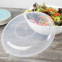 Fineline HC1414.L ReForm 14 inch Clear High Dome Plastic Catering Bowl Lid - 50/Case