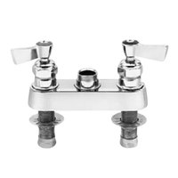 Fisher 2500-CV Deck Mounted Faucet Base with 4 inch Centers and 1/2 inch Rigid Male Inlets