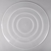 Fineline C1600C/25.L ReForm 16 inch Clear Flat Plastic Catering Bowl Lid - 50/Case