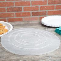 Fineline C1600C/25.L ReForm 16 inch Clear Flat Plastic Catering Bowl Lid   - 25/Case