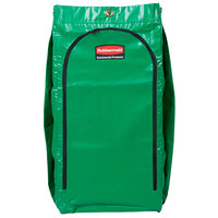 Rubbermaid 1966884 34 Gallon Green High Capacity Vinyl Janitor Cart Bag with Recycling Symbol