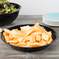 Fineline LPB14128PP.BK ReForm 128 oz. Black Low Profile Plastic Catering Bowl - 25/Case