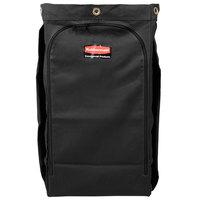 Rubbermaid 1966888 Executive 30 Gallon Black High Capacity Vinyl-Lined Canvas Housekeeping Cart Bag