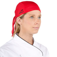 Headsweats Red Customizable Eventure Fabric Adjustable Chef Bandana / Do Rag