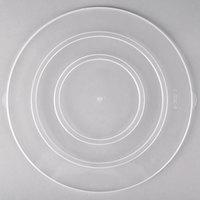 Fineline C1200C.L ReForm 12 inch Clear Flat Plastic Catering Bowl Lid - 50/Case